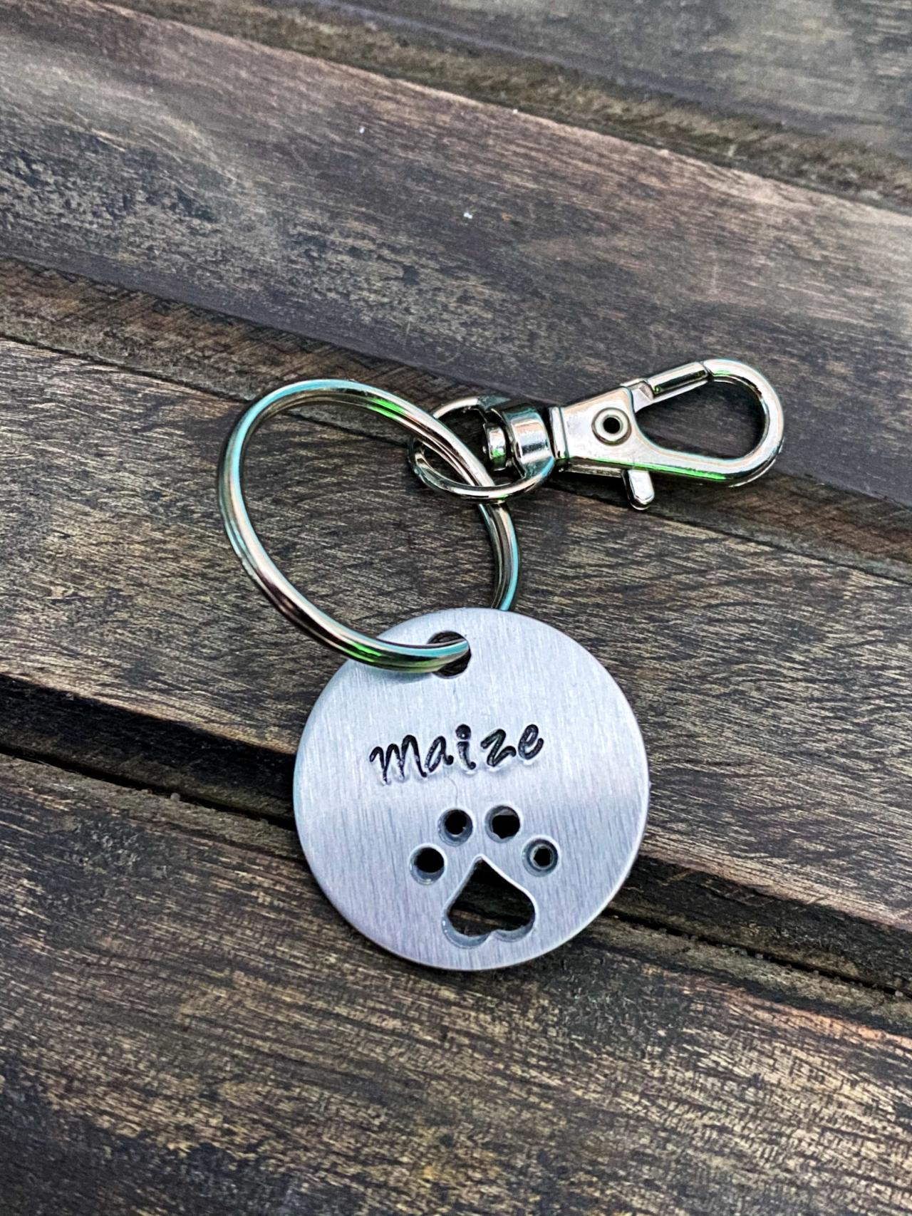 CUSTOMIZED KEY CHAIN, Fur Baby Key Chain, Personalized Hand Stamped key chains